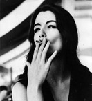 The model, showgirl and call-girl Christine Keeler, who was at the centre of the 'Profumo Affair' sex scandal. Her sexual liaisons with a Russian diplomat and cabinet minister John Profumo compromised Profumo and ultimately Macmillan's government.    (Photo by Keystone/Getty Images)