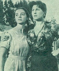 "Marisa Pavan with Anna Magnani in ""The Tattooed Rose"""