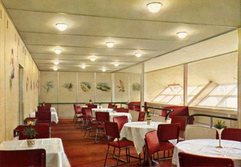 The Hindenburg  dining room