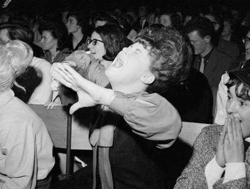 Beatles fans in the grips of beatlemania
