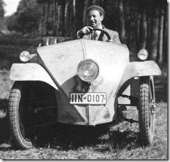 Josef Ganz in the Ardie-Ganz prototype, August 1930