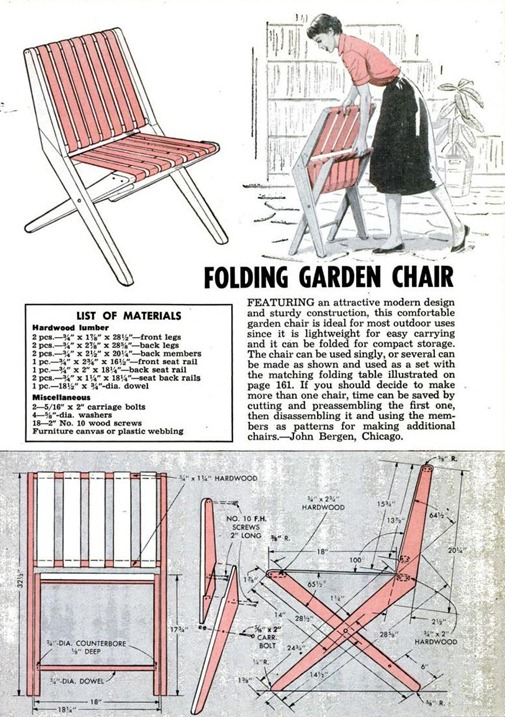 Folding Garden Chair Retrorambling
