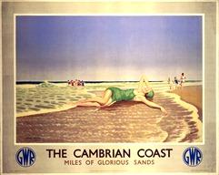 ÔThe Cambrian CoastÕ, GWR poster, 1938. Barcode: 10173439 Photo