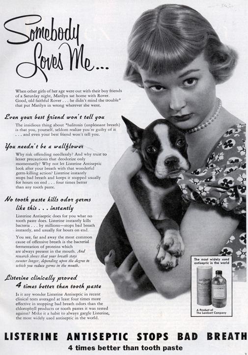 listerine_somebody_loves_me 1954
