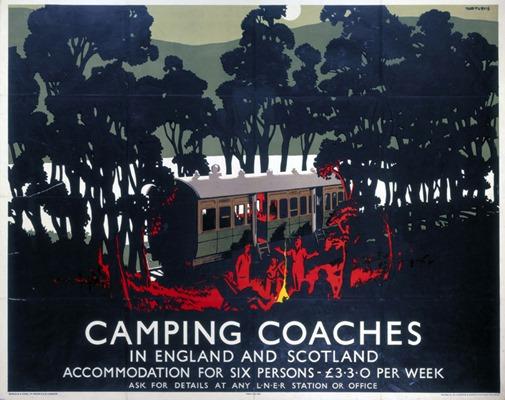 'Camping CoachesÕ, LNER poster, 1923-1947.