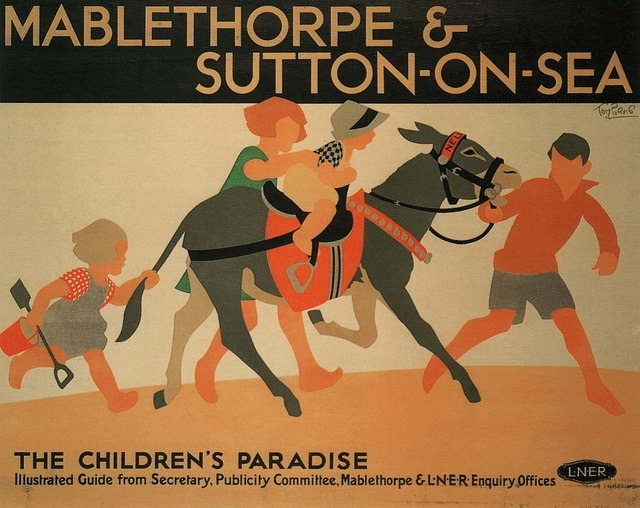Mablethorpe And Sutton On Sea 3 British Railway Advert Vintage Retro Poster