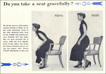 Retrorambling's Visitors Service - Part 18 - How To Sit Down Gracefully