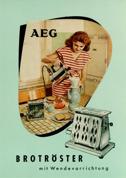 Werbeanzeige Brotröster, 1951