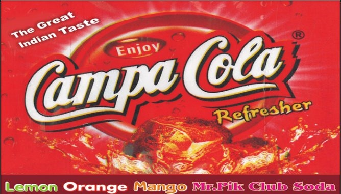 introduction of thums up and campa cola range