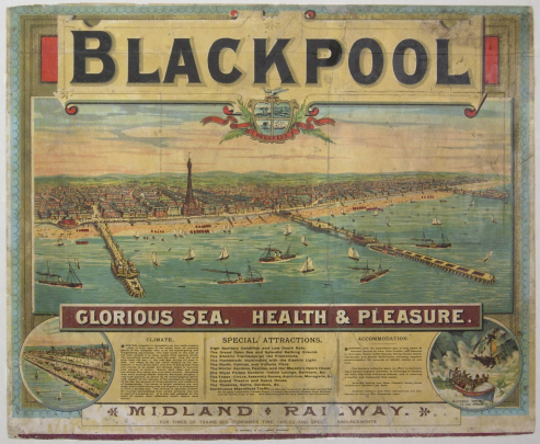 Blackpool poster, after conservation