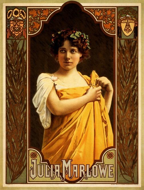 Julia Marlowe, Broadway poster, 1899