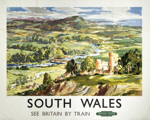 South Wales, BR (WR) poster, c 1950s.